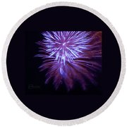 The Bombs Bursting In Air Round Beach Towel by Robert ONeil