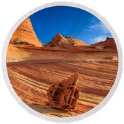 The Bone Yard In The North Coyote Buttes Round Beach Towel