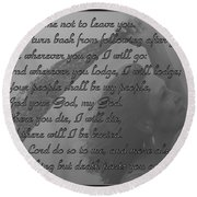 The Book Of Ruth Round Beach Towel