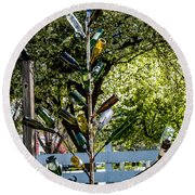The Bottle Tree Round Beach Towel