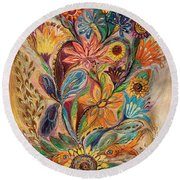The Bouquet Of Life Round Beach Towel