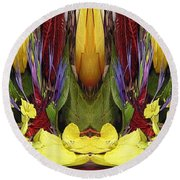 The Bouquet Unleashed 83 Round Beach Towel