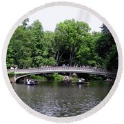 The Bow Bridge Round Beach Towel
