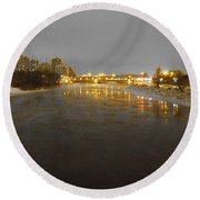 The Bow River Round Beach Towel