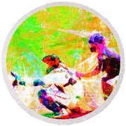 The Boys Of Summer 5d28228 The Catcher Square Round Beach Towel