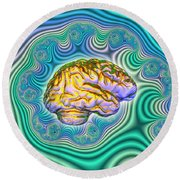 The Brain Round Beach Towel