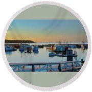 The Break Of A New Day... Round Beach Towel