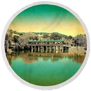 The Bridge 14 Round Beach Towel
