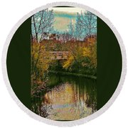 The Bridge Between Heaven And Earth Round Beach Towel