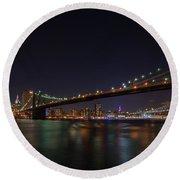 The Bridges Of New York Round Beach Towel