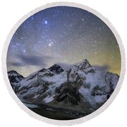 The Bright Stars Of Auriga And Taurus Round Beach Towel