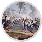 The British Royal Horse Artillery - Round Beach Towel by English School