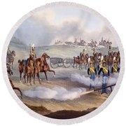 The British Royal Horse Artillery - Round Beach Towel