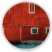 The Broad Side Of A Barn Round Beach Towel by Lois Bryan