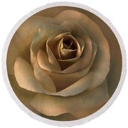 The Bronze Rose Flower Round Beach Towel