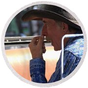 The Buggy Driver Round Beach Towel