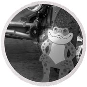 The Buggy Frog Round Beach Towel