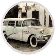 The Buick Round Beach Towel