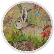 The Bunny Round Beach Towel