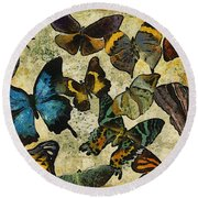 The Butterfly Collection #1 Round Beach Towel