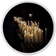 The Candles. Duomo. Milan Round Beach Towel