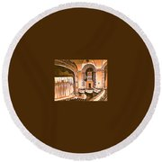 The Capitol Theater In Port Chester Ny Round Beach Towel