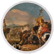 The Capture Of Carthage Round Beach Towel