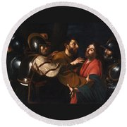 The Capture Of Christ Round Beach Towel