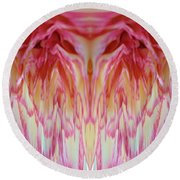 The Carnation Unleashed 3 Round Beach Towel