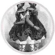 The Carolina Twins, 1866 Round Beach Towel