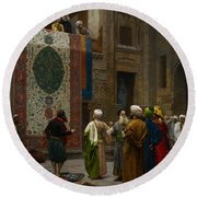 The Carpet Merchant Round Beach Towel