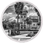 The Casa Monica Round Beach Towel