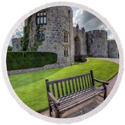 The Castle Bench Round Beach Towel