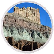The Castle Capitol Reef National Park Utah Round Beach Towel