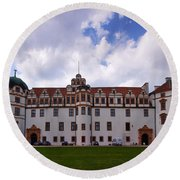The Castle Of Celle Round Beach Towel