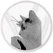 The Cat Round Beach Towel