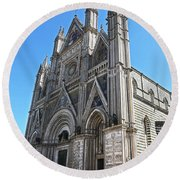 The Cathedral At Orvieto Round Beach Towel