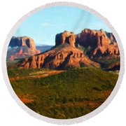 The Cathedral Complex Round Beach Towel