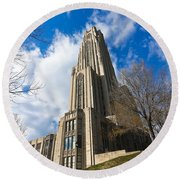 The Cathedral Of Learning 2g Round Beach Towel