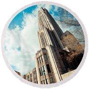 The Cathedral Of Learning 3 Round Beach Towel