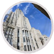 The Cathedral Of Learning 5 Round Beach Towel
