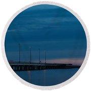 The Causeway Bridge Round Beach Towel