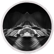 The Cave Round Beach Towel by Adam Romanowicz