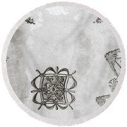 The Ceiling Design Round Beach Towel