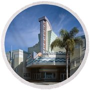 The Century Theatre In Ventura Round Beach Towel