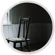 The Chair By The Window II Round Beach Towel