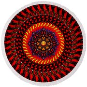The Changing Of The Tide Round Beach Towel