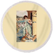 The Changing Room Round Beach Towel