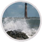 The Changing Tides Round Beach Towel