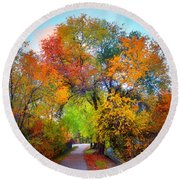 The Changing Tree Round Beach Towel